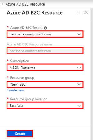 Create An Azure Active Directory B2C Tenant
