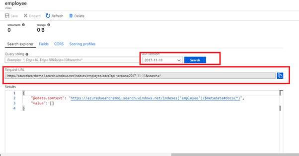 Create An Azure Search From The Portal