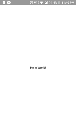 Create Hello World Application Using React Native