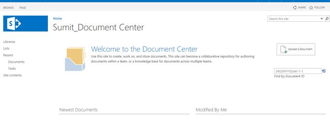 document center site