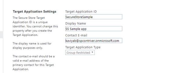 Create Secure Store Application In SharePoint O365