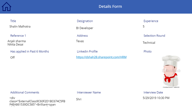 Create Single Display Or Edit Form For Multiple Galleries In PowerApps