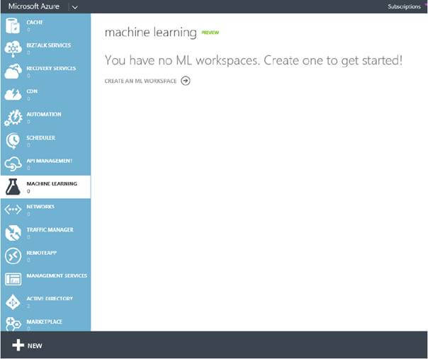 Machine Learning workspace