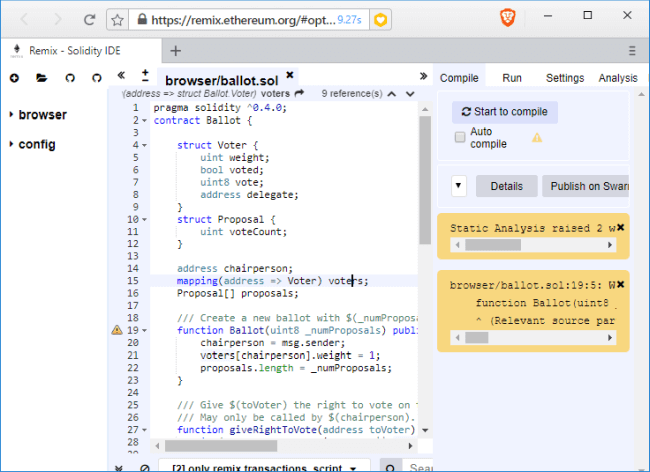 Create Your First Smart Contract In Ethereum With Ganache And Remix IDE - Create contract online