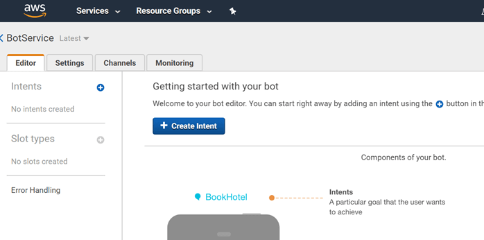 Creating A Chatbot Using Amazon Lex Service