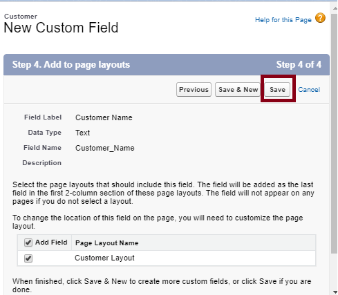 Creating A Custom Field In SalesForce