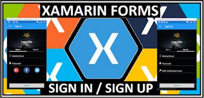 Xamarin.Forms SIGN IN/SIGN UP