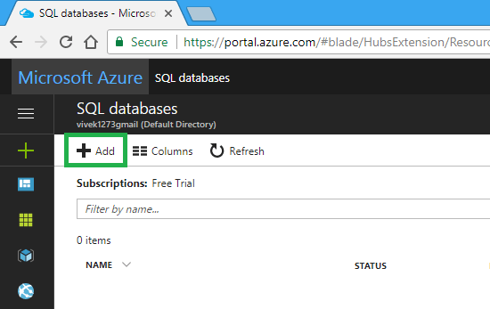 how to create a database with sql server management studio
