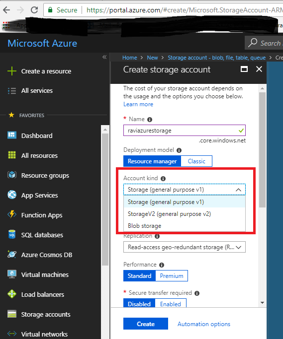 Creating Azure Blobs using ASP.NET Core C# Console Application