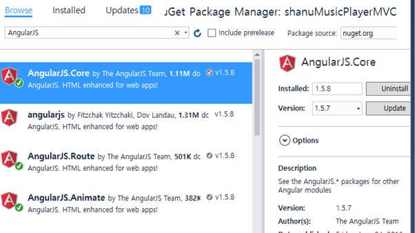 Manage NuGet Packages