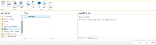 CRUD Operations Using Sharepoint FrameWork and PnP JS Library