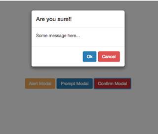 Custom Alert, Prompt And Confirm Box Using jQuery And Bootstrap