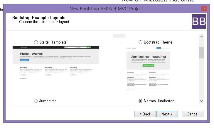 Customizing asp mvc bootstrap templates now we need to select theme for our layout here we can see group of theme has been listed in dropdown list maxwellsz