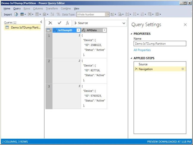 Dealing with JSON - Using Power Query in Azure Analysis Services