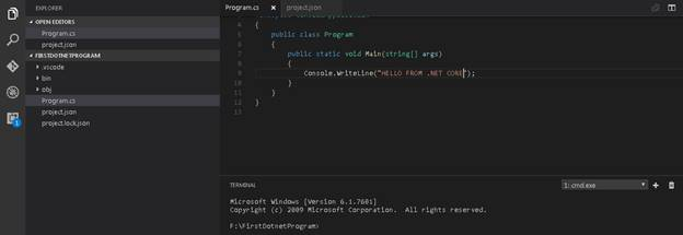 VS code project structure
