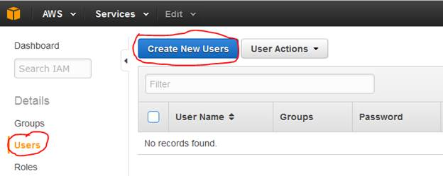Create new users