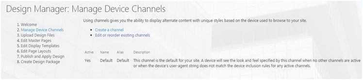 Manage Device Channels