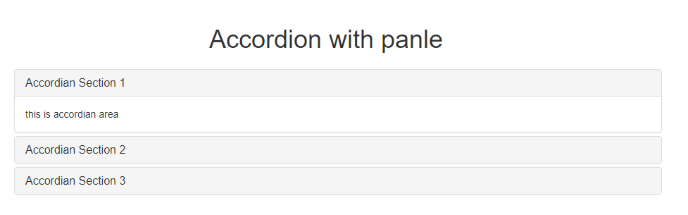 Designing Accordion Using Panel In Bootstrap