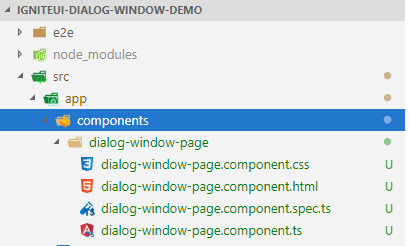 Dialog Window In Angular Using Ignite-UI