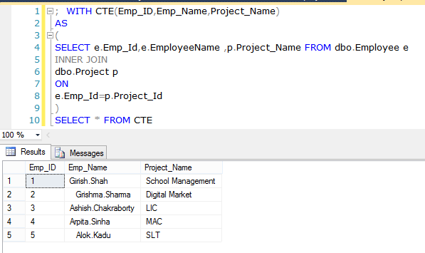 Differences Among CTE, Derived Table, Temp Table, Sub Query And Temp Variable