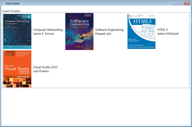 Different Types Of Templates In Wpf