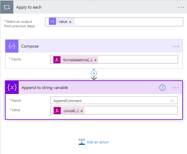 Display Appended Comments Version History from SharePoint List on PowerApps