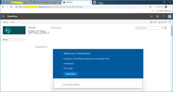 Enable CDN In Your Office 365 Tenant For SPFx WebPart
