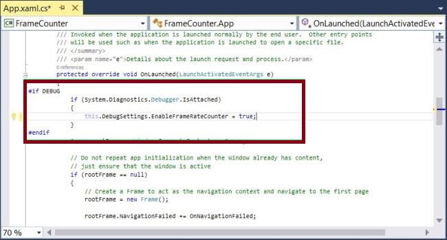 Enabling And Disabling The Frame Rate Counter In UWP