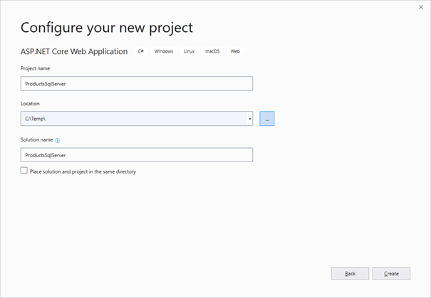 Entity Framework Core with SQL Server in Docker Container