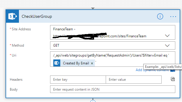 Flow With SharePoint REST API