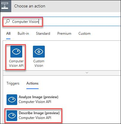 Generate A Description Of An Image Using Cognitive Service And Microsoft Flow