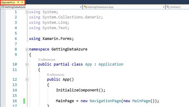 Getting Data From Azure In Android And Windows Using Xamarin.Forms
