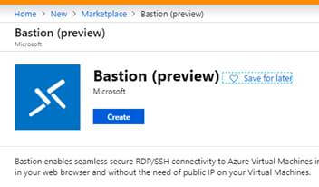 Azure Bastion (Preview) Service