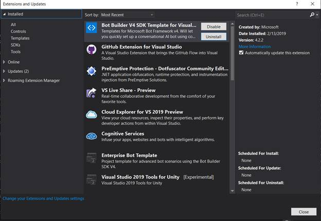 Getting Started With Microsoft Bot Using Visual Studio 2019