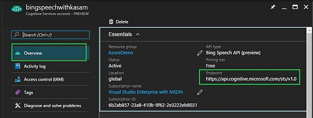 Getting Started With Microsoft Cognitive Services - Bing Speech API