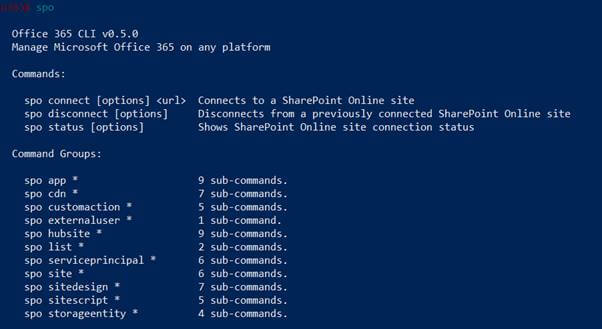 Office 365 CLI
