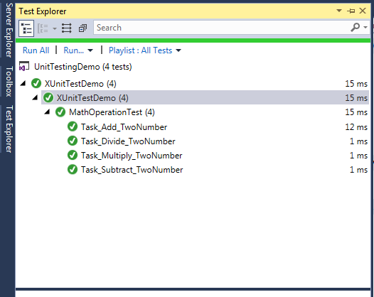 Unit Testing Using C# And xUnit
