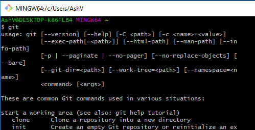 git command line interface