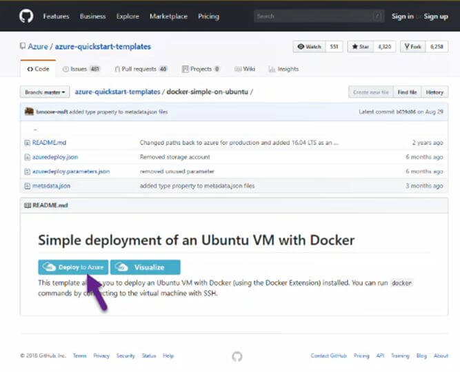 Hosting Docker Container on Azure Linux VMS