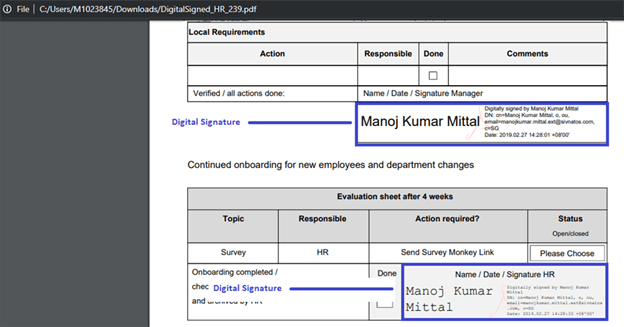 How To Enable Digital Signature In Digital Signed PDF Using Column Formatting