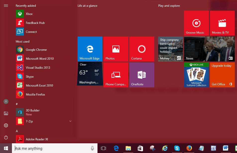 how to change the start menu in windows 7
