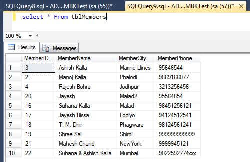 stored procedure In SQL Server