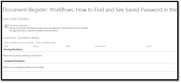 how to create document workflow in sharepoint
