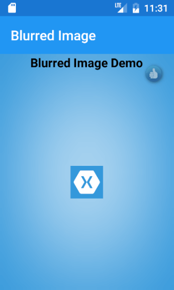 BlurredImage in Xamarin