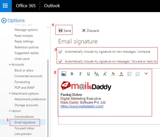 How To Create Or Add Email Signature In Office 365 Exchange Online