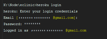 command heroku login