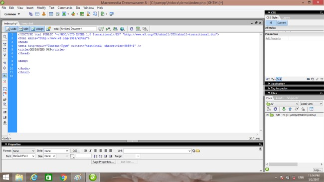 how to develop php web application using xampp
