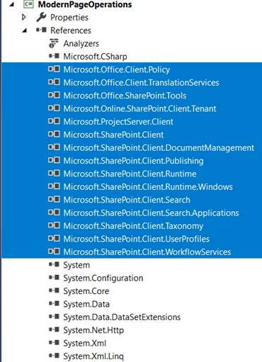"Office 365-SharePoint Online - Creating Console ApplicationOffice 365 - SharePoint Online - Assemblies references added after installing ""Microsoft.SharePointOnline.CSOM"" NuGet package"