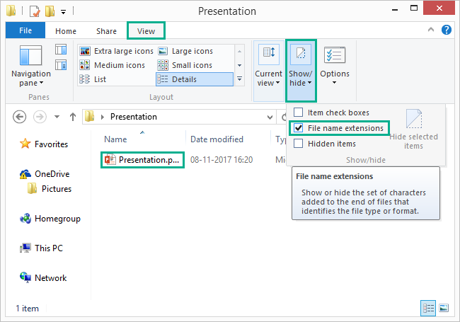 How to extract all images from an existing powerpoint presentation if you are unable to view the file extension you need to set windows explorer to show the file extension toneelgroepblik Images