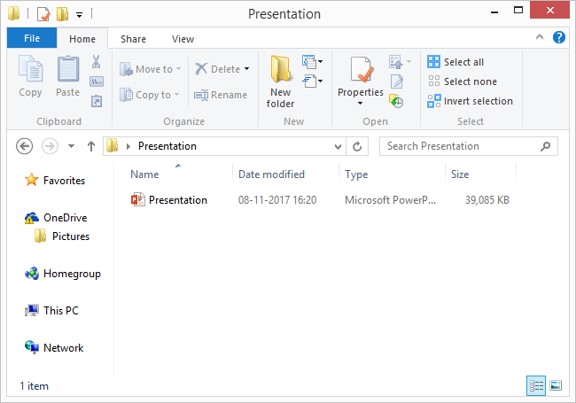 How to extract all images from an existing powerpoint presentation navigate to the folder where you have saved the powerpoint presentation file toneelgroepblik Gallery